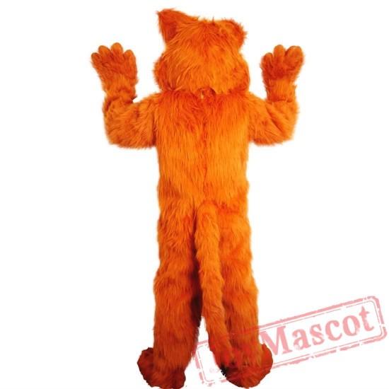 Long Hair Cat Mascot Costume Adult