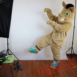 Brown Horse Mascot Costume Adult
