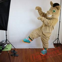 Brown Horse Mascot Costume Adult