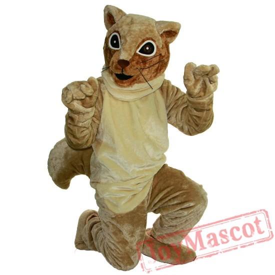 Brown Squirrel Mascot Costume Adult