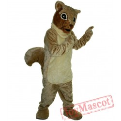 Brown Squirrel Mascot Costume Adult