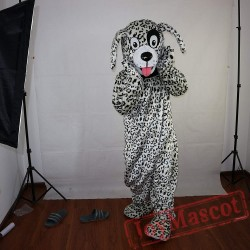 Black And White Dalmatian Dog Mascot Costume Adult