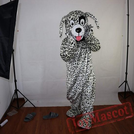Black And White Dalmatian Dog Mascot Costume Adult