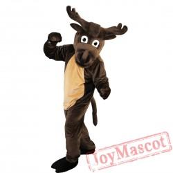 Dark Brown Elk Mascot Costume Adult