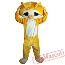 Lovely Yellow Cat Mascot Costume