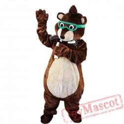 Glasses Mouse Raccoon Mascot Costume Adult