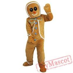 Gingerbread Man Mascot Costume