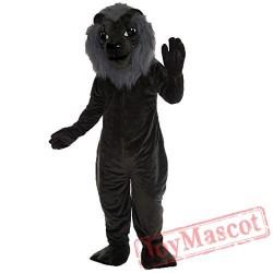 Grey Lion Mascot Costume