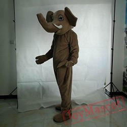 Brown Elephant Mascot Costume