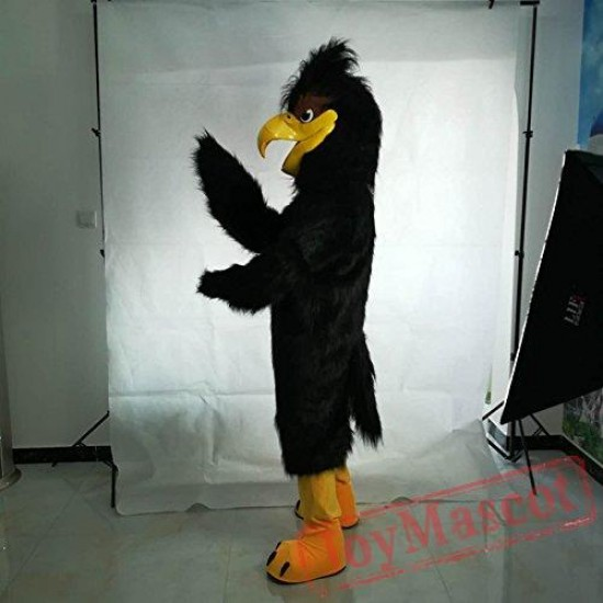 Black Eagle Bird Mascot Costume