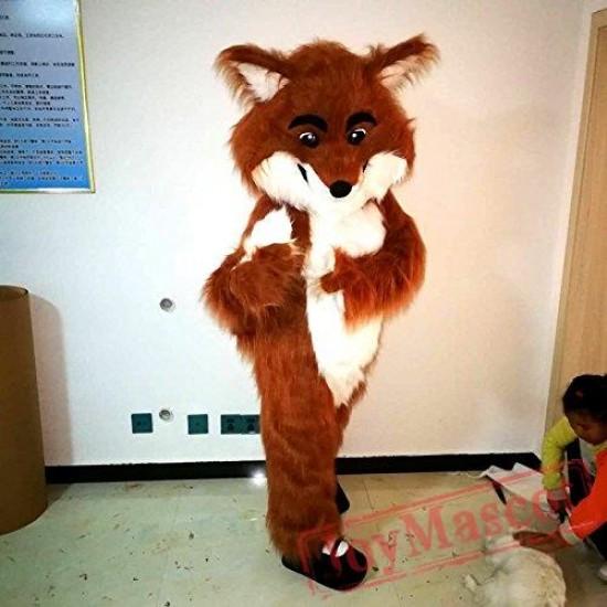 Long Hairy Fox Mascot Costume