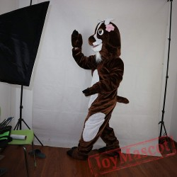 Brown Goat Mascot Costume