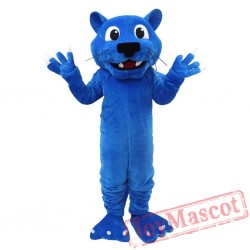 Blue Panther Mascot Costume