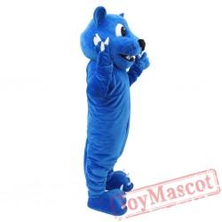 Blue Panther Mascot Costume