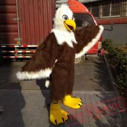 Brown Eagle Long Hair Mascot Costume