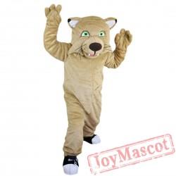 Beige tiger / wildcat Mascot Costume