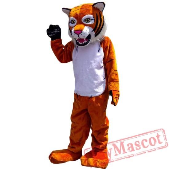 Tiger Wildcat Cartoon Mascot Costume