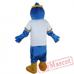 Sport blue eagle Mascot Costume