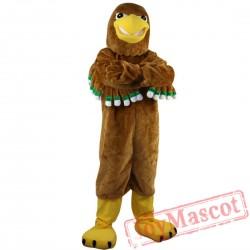 Brown eagle Cartoon Mascot Costume
