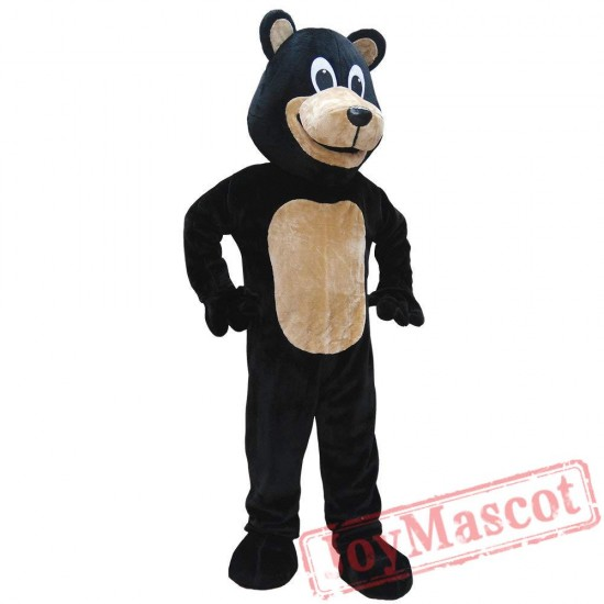 Adult Black Bear Mascot Costume