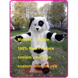 Black & White Spot Dog Mascot Costume