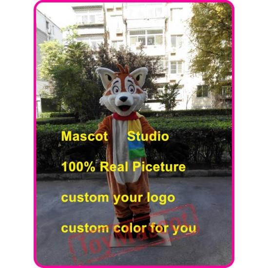 Cartoon Fox Mascot Costume