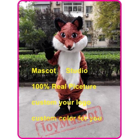 Fat Fox Mascot Costume