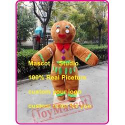 Gingerbread Mascot Costume Christmas Ginger Bread