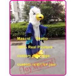 Blue Hawk Mascot Costume Eagle Falcon