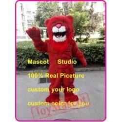 Red Lion Mascot Costume Plush Lion