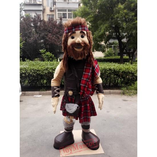 Highlander Mascot Warrior Mascot Costume