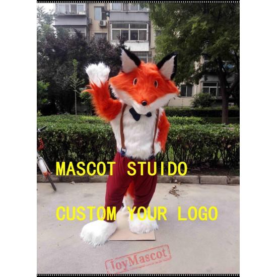 Plush Fox Mascot Costume