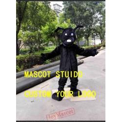 Black Dog Mascot Costume