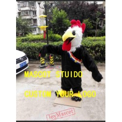 Black Rooster Mascot Costume Chicken Cock Costume
