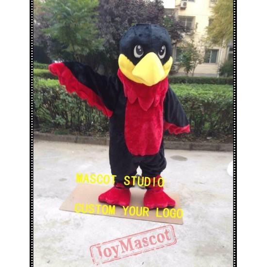 Red Hawk Mascot Costume Falcon Eagle Mascot
