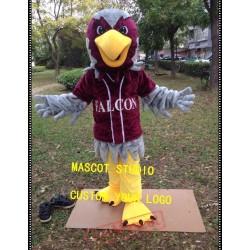 Red Falcon Mascot Costume Hawk Eagle Mascot