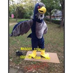 Grey Falcon Mascot Costume Hawk Eagle Mascot