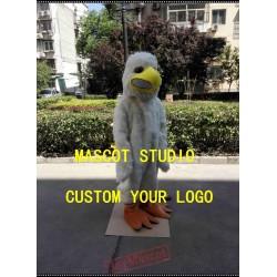 White Plush Bird Mascot Costume Little Eagle