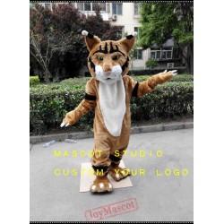 Brown Wildcat Mascot Costume Courgar Mascot