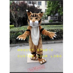 Brown Wildcat Mascot Costume Courgar Mascot