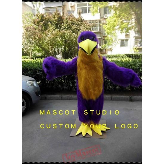 Purple Eagle Mascot Costume Hawk Falcon