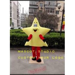 Yellow Star Superman Mascot Costume