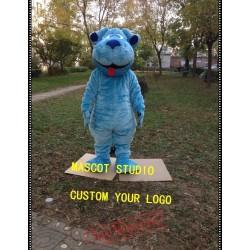 Blue Dog Mascot Costume