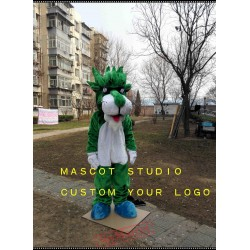 Green Panther Mascot Costume Leopard
