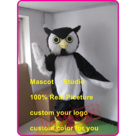 Plush Owl Hoot Mascot Costume