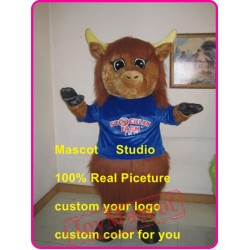 Highland Cow Mascot Costume