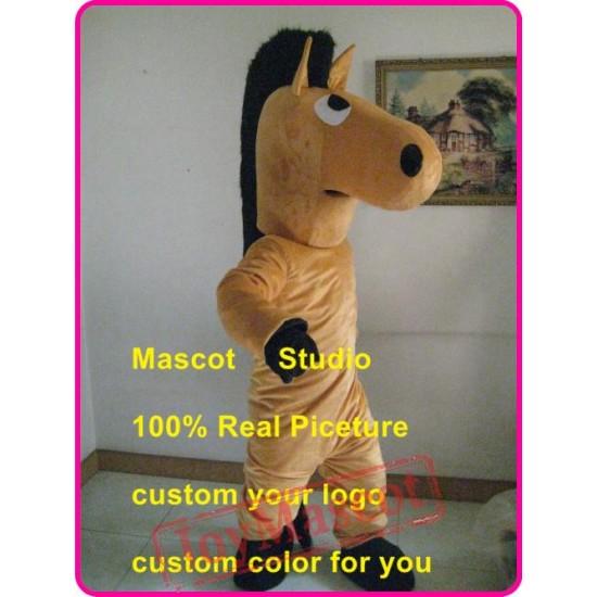 Brown Horse Mascot Costume