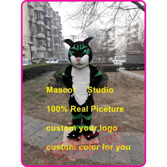 Black Panther Mascot Costume Black Wildcat