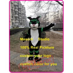 Black Panther Mascot Costume Black Wildcat