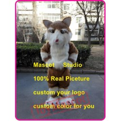 Brown Cat Mascot Costume Plush Cat